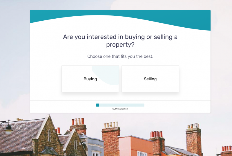 Real estate form template