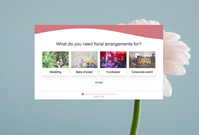 Florist Form Template & Online Booking System